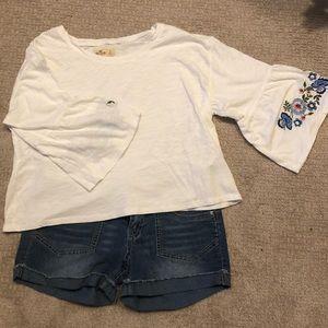 Hollister | Floral Bell Sleeve Shirt, S